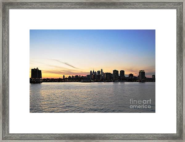 Sunset Over Philadelphia Framed Print