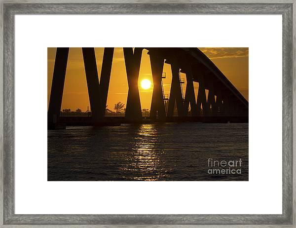 Sunset Over Sanibel Island Photo Framed Print