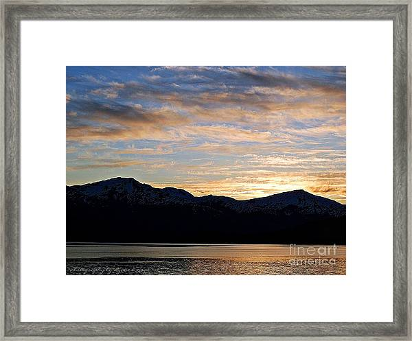 Sunset Over Skagway Ak Framed Print