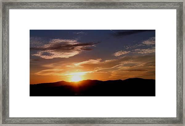 Sunset Over The Blue Ridge Framed Print