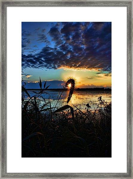 Sunset Over The Refuge Framed Print