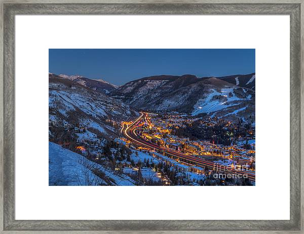 Sunset Over The Valley Framed Print