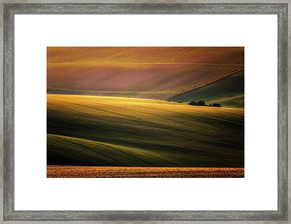 Sunset Palette Framed Print by Marek Boguszak