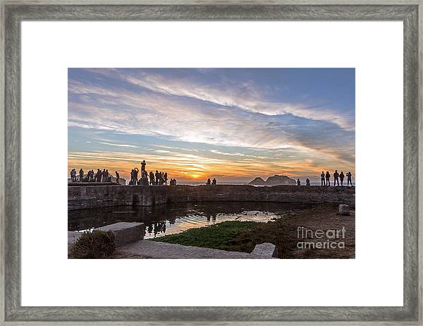 Sunset Party Framed Print