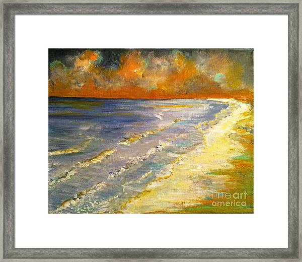 Sunset Passion At Cranes Beach Framed Print