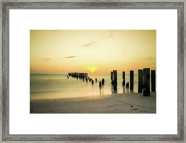Sunset Pier Framed Print