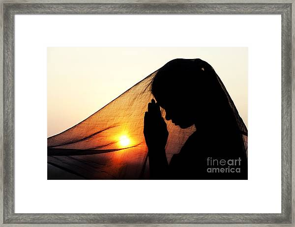 Sunset Prayers Framed Print