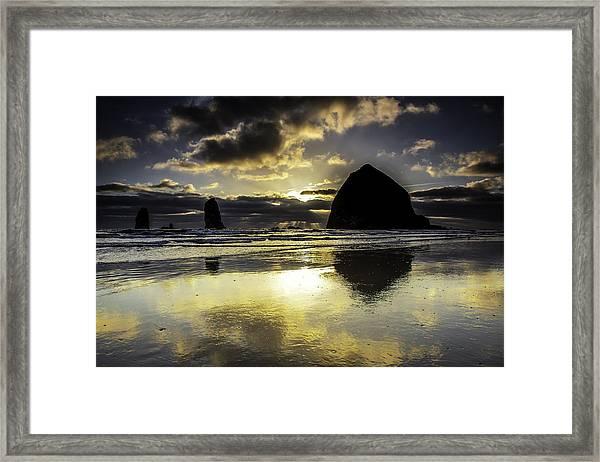 Sunset Reflected Framed Print