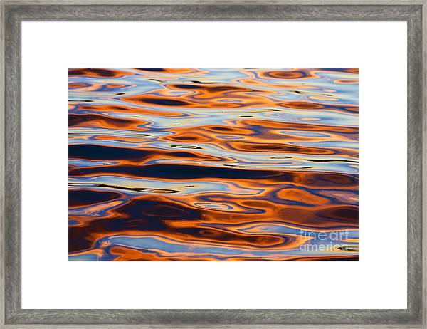 Sunset Reflection In Tempe Town Lake Framed Print