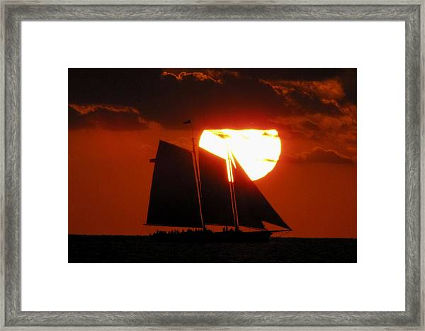 Framed Print featuring the photograph Key West Sunset Sail 5 by Bob Slitzan