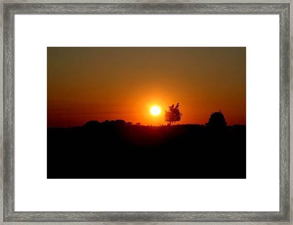 Sunset Silhouette Framed Print