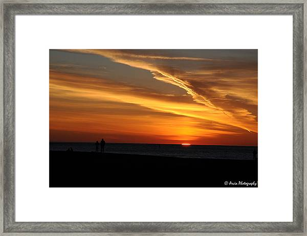 Sunset Sliver Framed Print