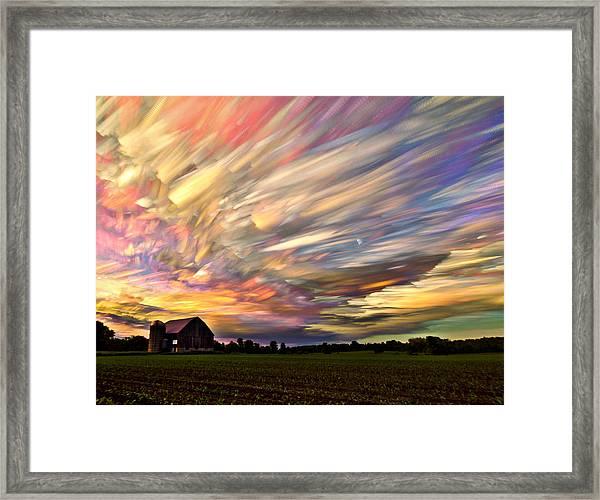 Sunset Spectrum Framed Print