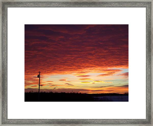 Sunset Strata Framed Print