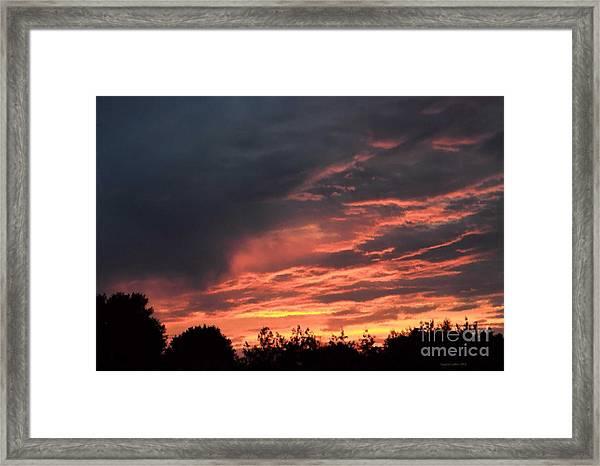 Sunset Streaks Framed Print