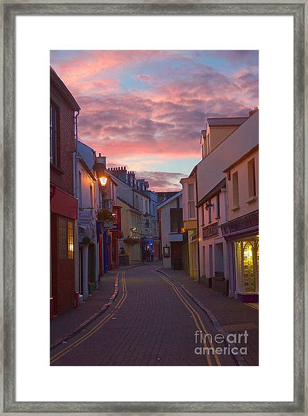 Sunset Street Framed Print
