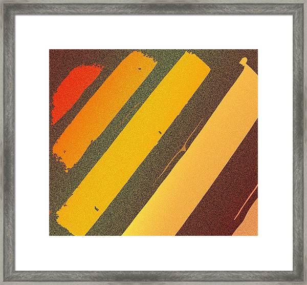 Sunset Strips Framed Print