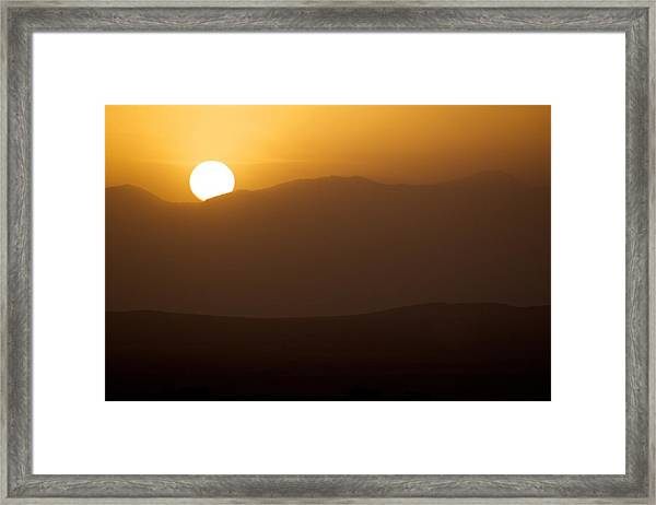 Sunset The Ruby Mountains Wells Nevada Framed Print
