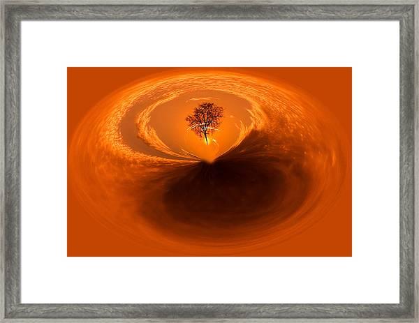 Sunset Tree Artwork Framed Print