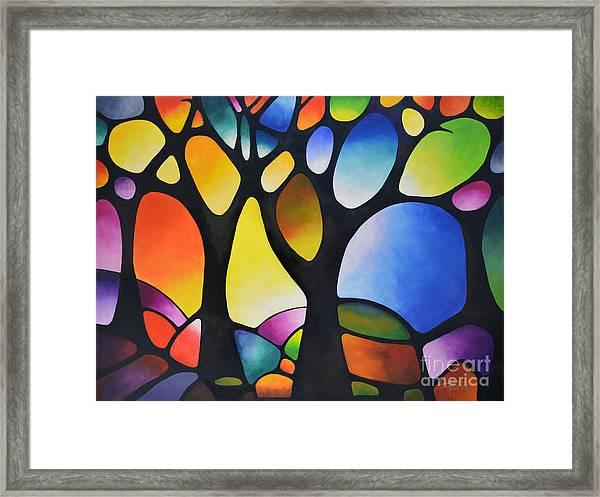 Sunset Trees Framed Print