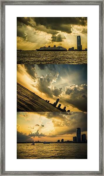 Sunset Trilogy Framed Print