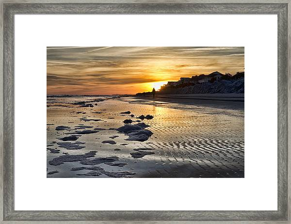 Sunset Wild Dunes Beach South Carolina Framed Print