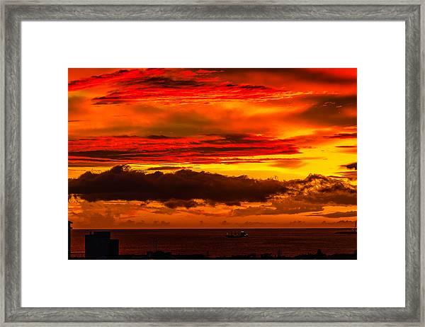 Sunset Wow2 Framed Print