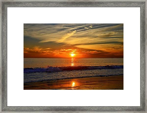 Sunset's Glow  Framed Print