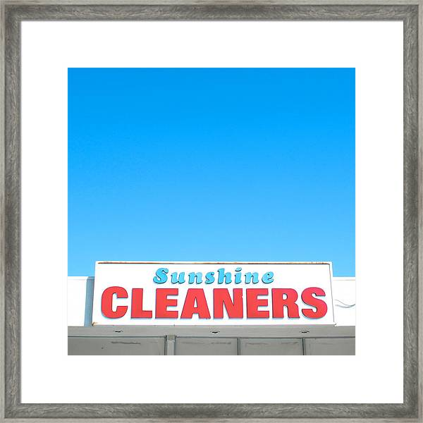 Sunshine Cleaners Framed Print