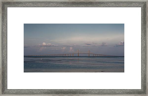Sunshine Skyway Bridge Framed Print