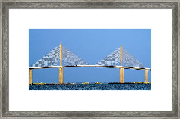 Sunshine Skyway Panorama Framed Print