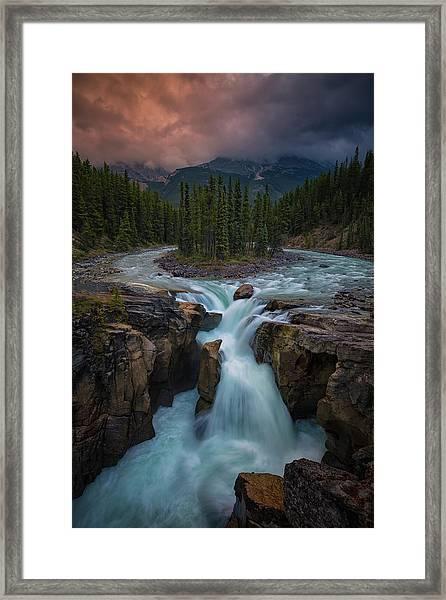 Sunwapta Falls Framed Print