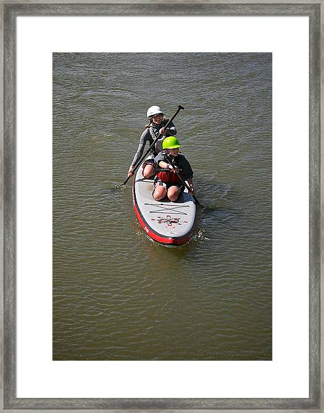 Framed Print featuring the photograph Sup Team by Britt Runyon