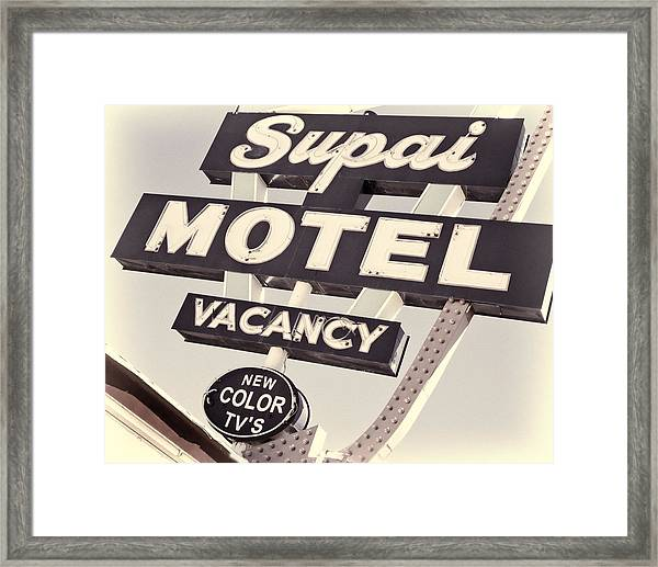 Supai Motel Framed Print