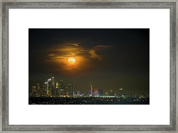 Super Blue Bloody Moon Framed Print by Eunice Kim
