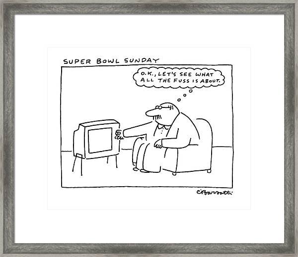 Super Bowl Sunday Framed Print