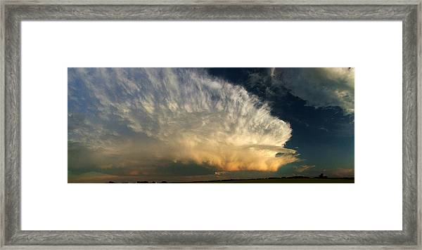 Super Cell On The Prairies Framed Print