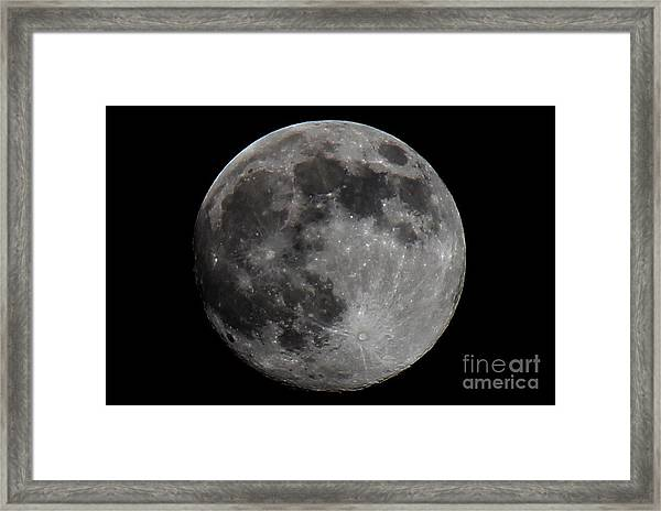 Super Moon 2014 Framed Print