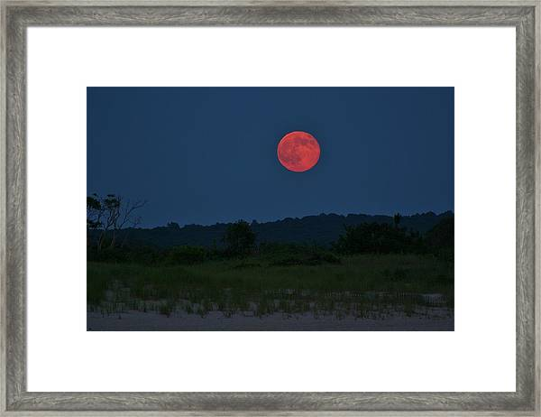 Super Moon July 2014 Framed Print