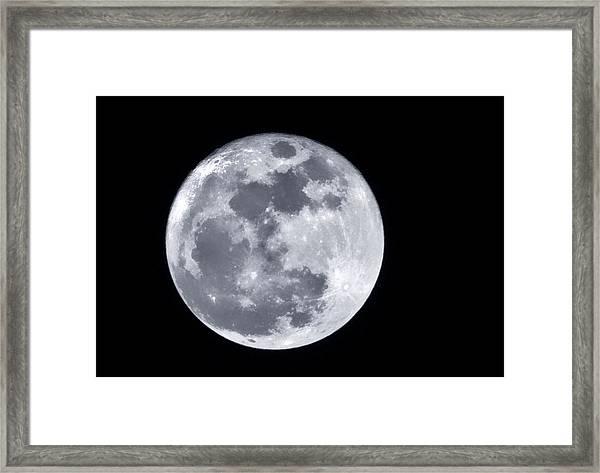 Super Moon Over Arizona  Framed Print