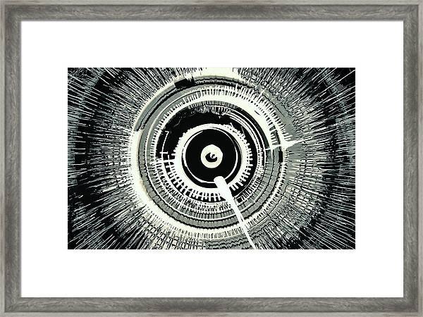 Super Nova Black Framed Print