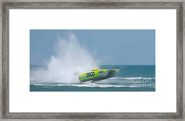 Superboats - Miss Geico Framed Print