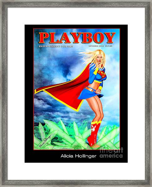 Supergirl 2085 Framed Print