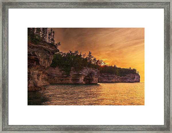 Superior Cliffs At Sunset Framed Print