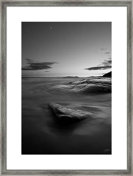 Superior Crescent    Framed Print