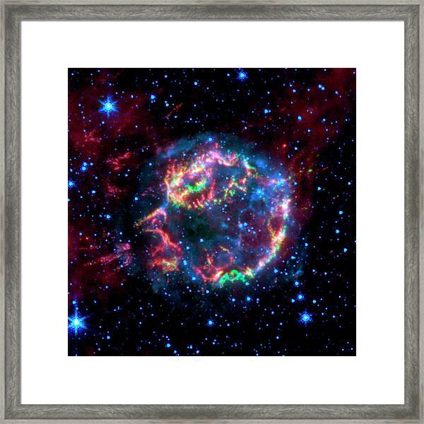 Supernova Remnant Cassiopeia A Framed Print