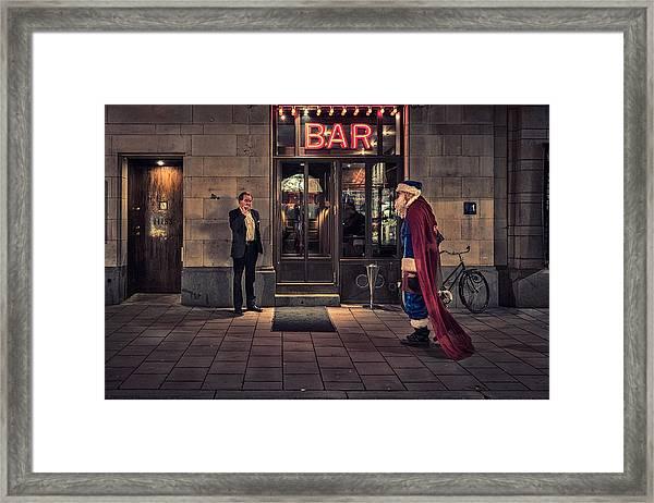 Supersanta Framed Print by Martin Johansson