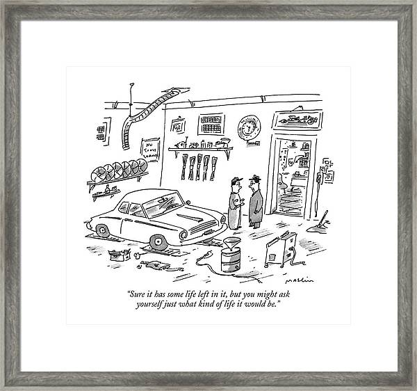 Sure It Has Some Life Left Framed Print