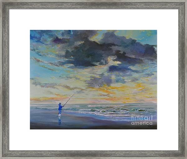 Surf Fishing Framed Print