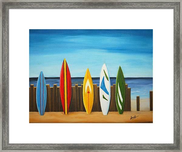 Surf On Framed Print